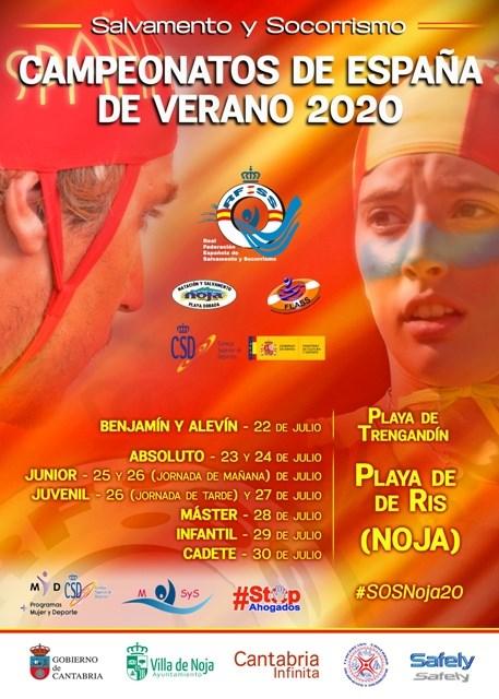 Cartel Cto España playa SOS (Noja)