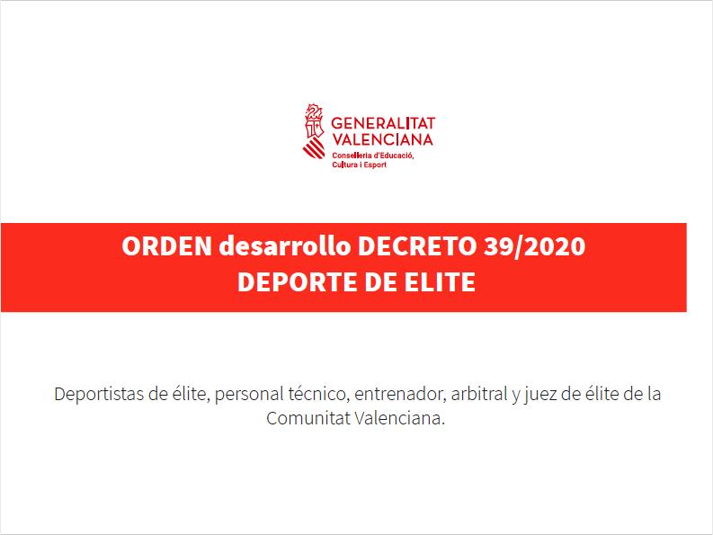Órden desarrollo Decreto